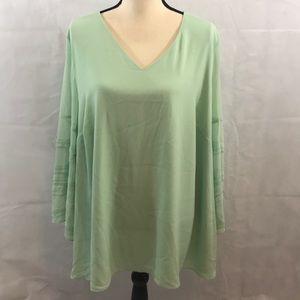 NWOT V Neck long sleeve blouse
